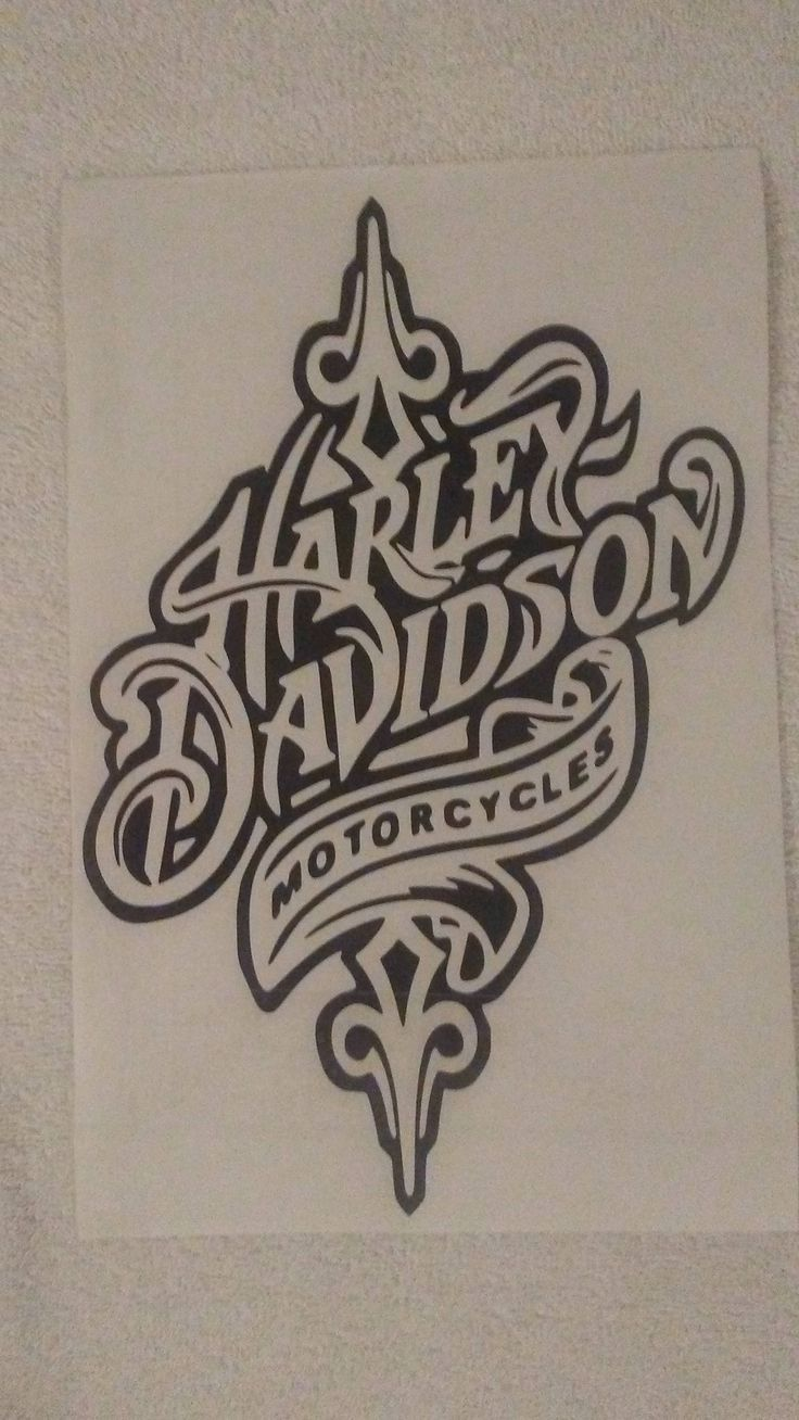 Harely Davidson Decal by DandCVinylCutting on Etsy