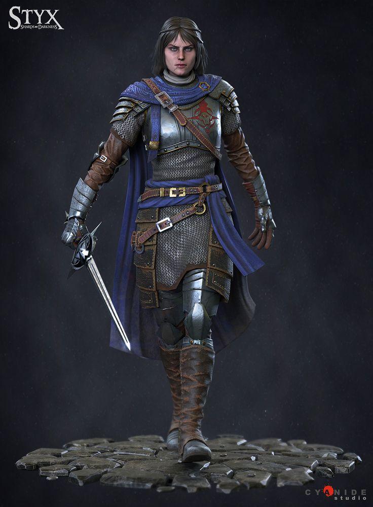 Styx shards of Darkness : Captain Helledryn, Jean-philippe Degosse on ArtStation at https://www.artstation.com/artwork/GWVrV