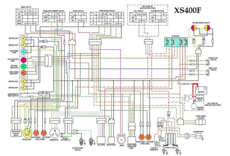 xs400f wiring diagram xs400
