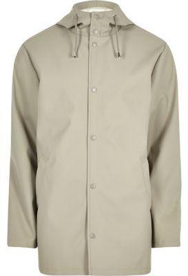 River Island Mens Light stone hooded jacket