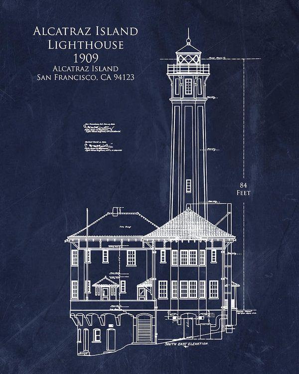 Alcatraz Island Lighthouse Art Print By Sara H