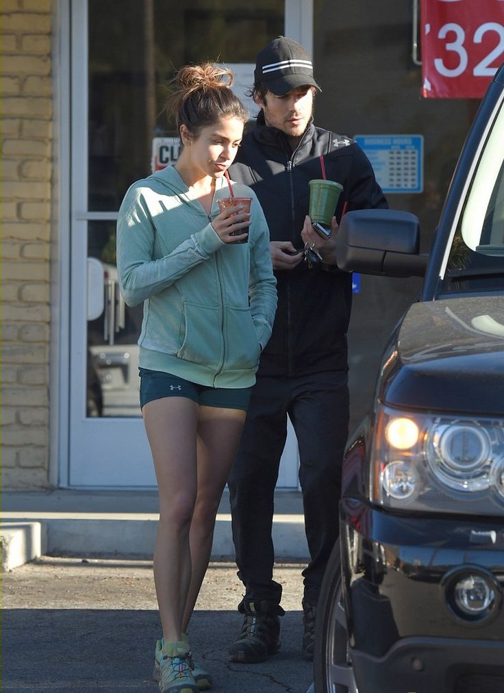 Nikki Reed takes a sip of her early morning smoothie after stopping by the Breakroom Cafe with her boyfriend Ian Somerhalder on Friday (January 2) in Los Angeles.