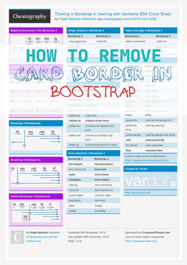 11 Top How To Remove Card Border In Bootstrap How To Remove Border Cards