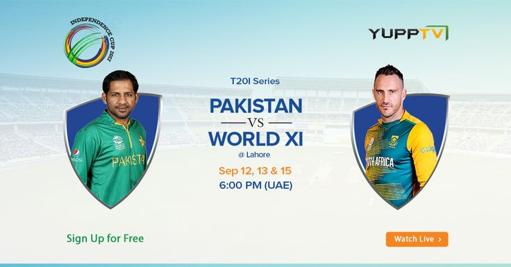Watch Pakistan vs World XI 1st T20 live streaming FREE in Middle East @ https://www.yupptv.com/cricket/pakistan-vs-world-XI-t20-live-streaming.html