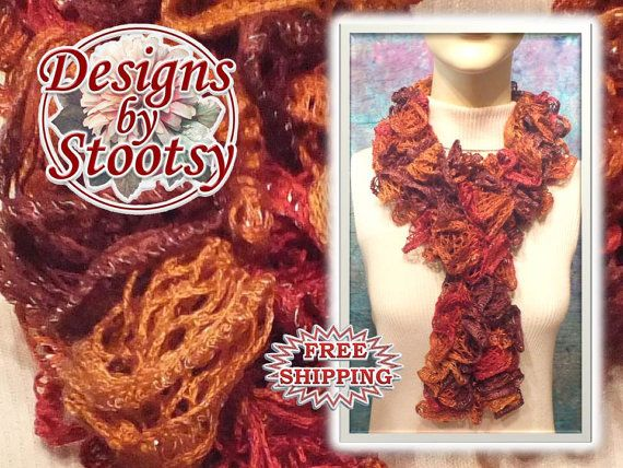 Sashay Crocheted Scarf  Multicolored 9503 by DesignsByStootsy