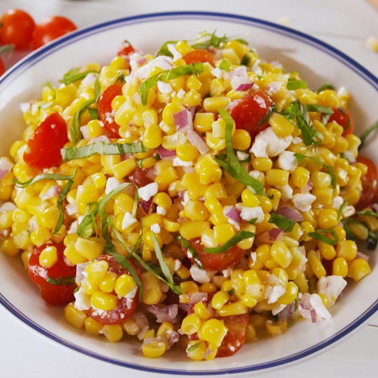 The quintessential summer salad. #easyrecipe #corn #summer #sidedish #salad