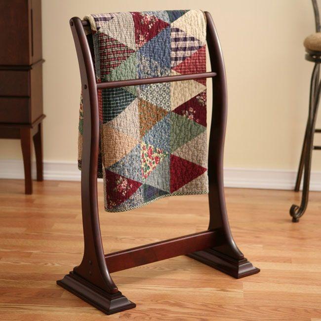 Transitional Mahogany Blanket/ Quilt Rack