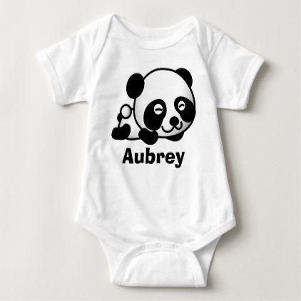 #cute #baby #bodysuits - #Personalized cute Little baby panda bear Baby Bodysuit