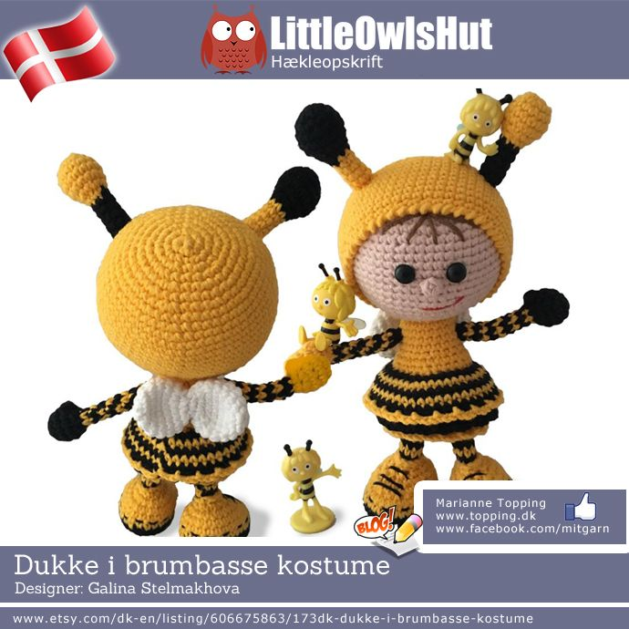 23a3c5bd185 Dukke i brumbasse kostume - Little Owls Hut | Crochet | Pinterest ...