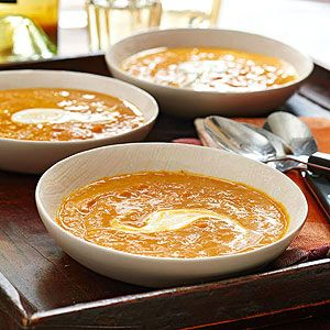 Spiced Pumpkin Bisque - The Inn at Irish Hollow in Galena, Illinois, serves this creamy, curried soup throughout the fall and winter.