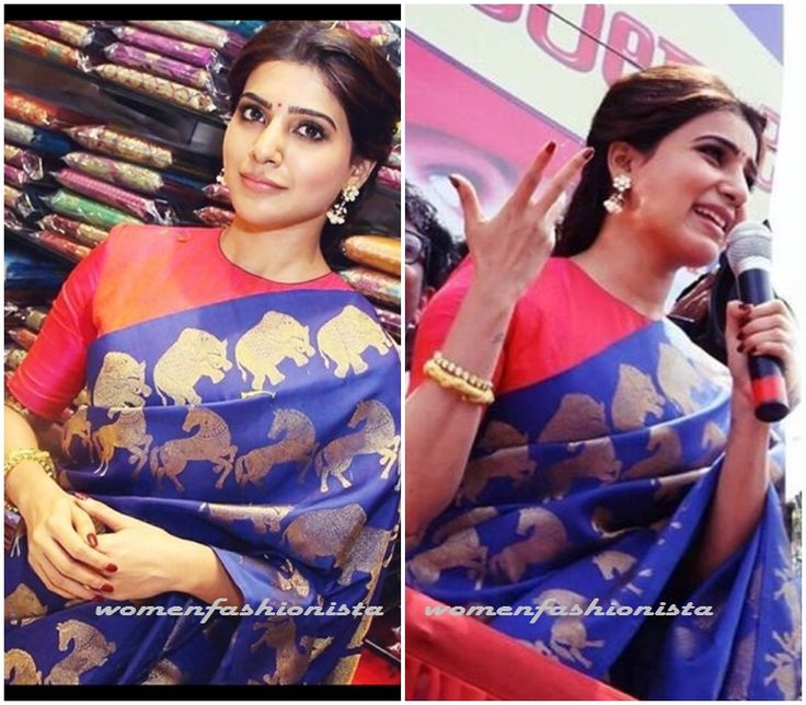 Samantha Ruth Prabhu in Santosh Parekh motif printed saree