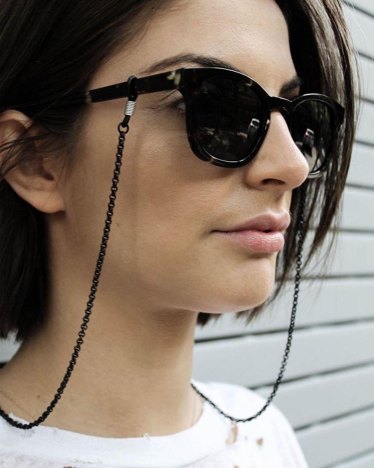 Black sunglass chain - summer accessory, summer essential