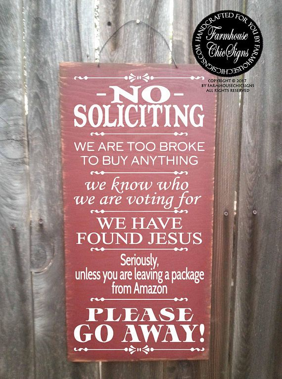 No Solicitation Sign No Soliciting Door Sign No Soliciting Signs Funny No Solicitors No Solicitation Funny Sign 12 Porch Signs Front Porch Decorating Porch Welcome Sign