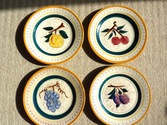 Stangl Fruit Plates Hand Painted & 32 best Stangl Pottery images on Pinterest | Dish Medieval and Mid ...