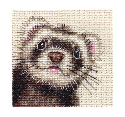 Ferret Portrait Full Counted Cross Stitch KIT | eBay