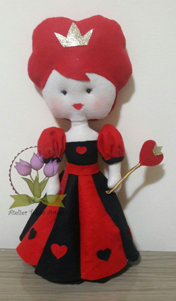 Rainha de copas em feltro #rainhadecopas  #rainhadecopasfeltro  #tuliparteira