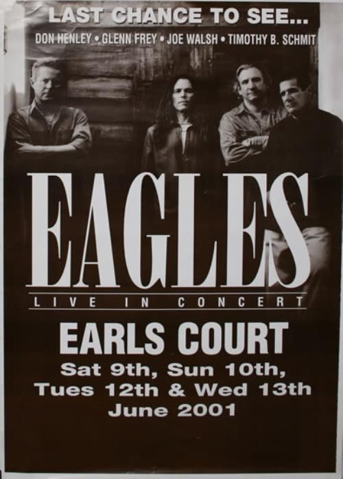 Eagles concert posters the eagles band poster the eagles live in concert