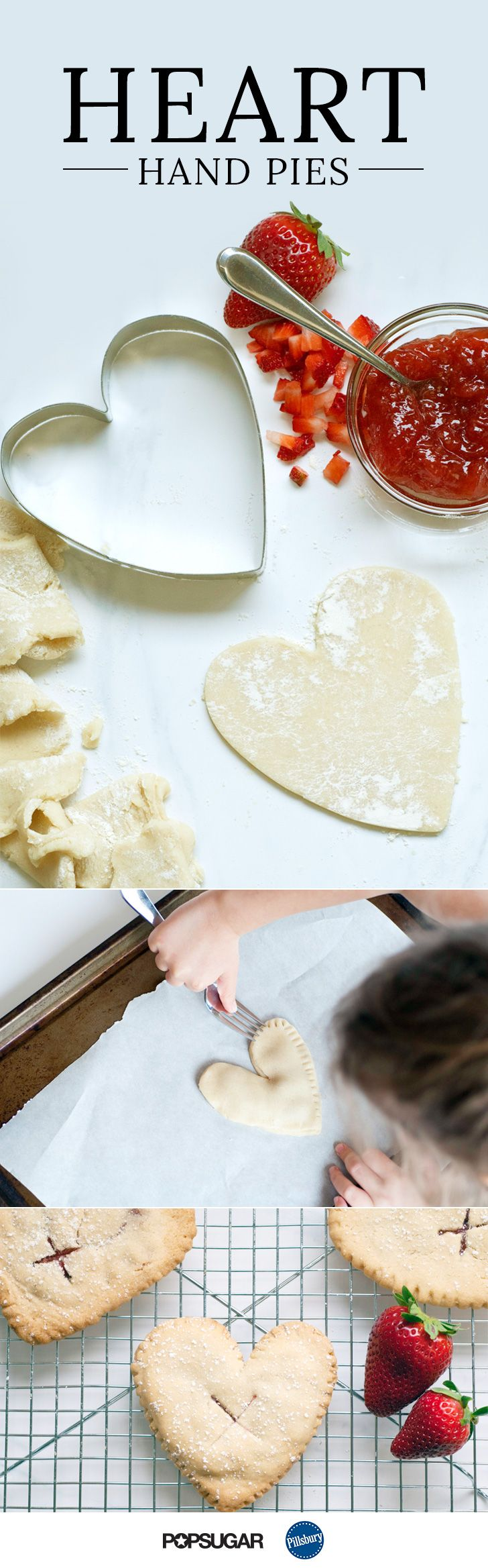 """These Strawberry Heart Hand Pies Are the Sweetest Way to Say """"I Love You"""""""