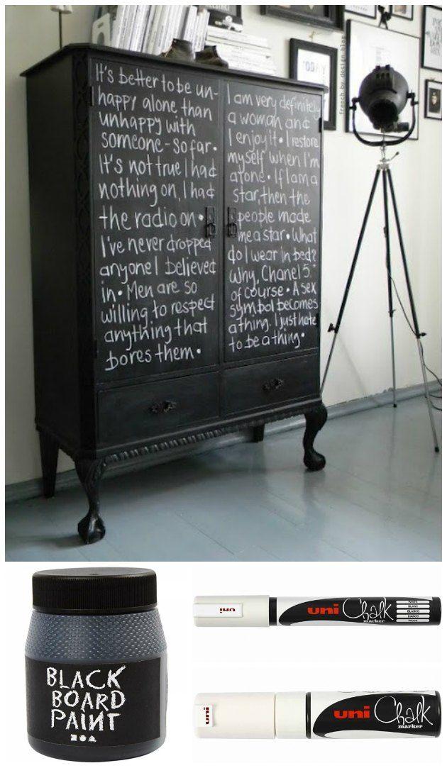 Stærke kontraster – et fedt look på et gammelt møbel… - Tina Dalbøges kreative påfund