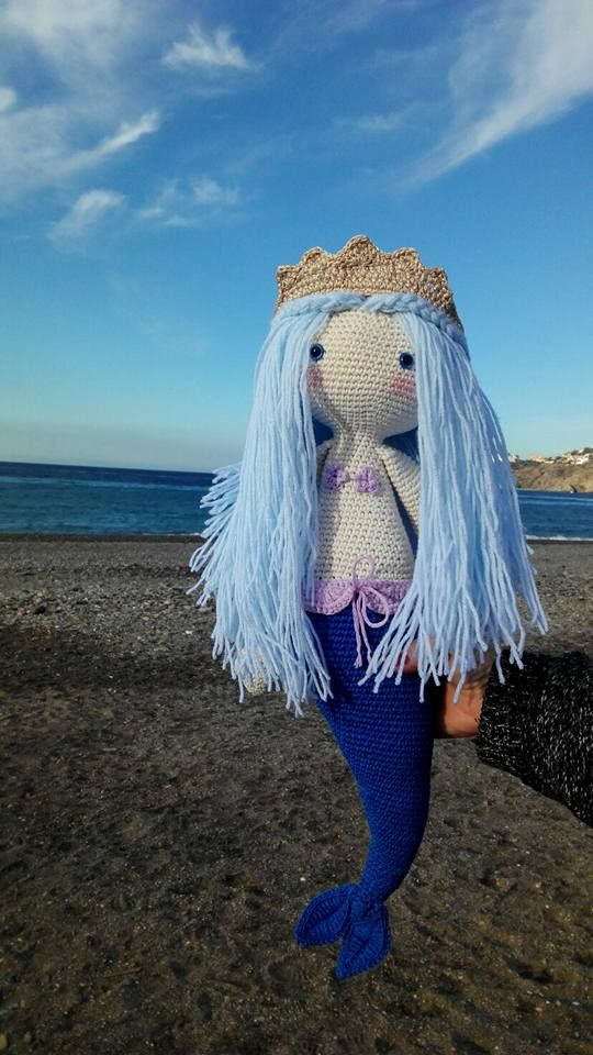 MICI the mermaid made by Tatiana M. / crochet pattern by lalylala