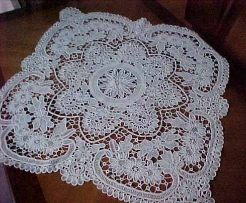 Romanian Point Lace crochet tablecloth