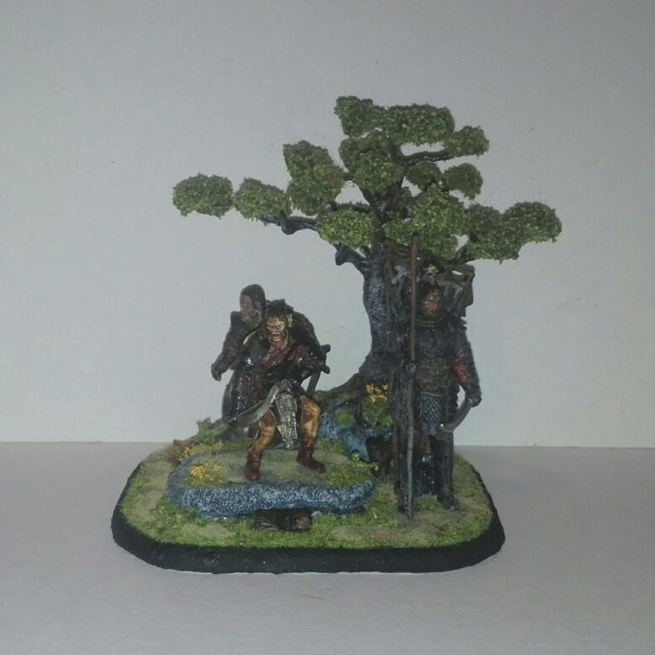 Diorama-Lord of the ring. Orks Army.