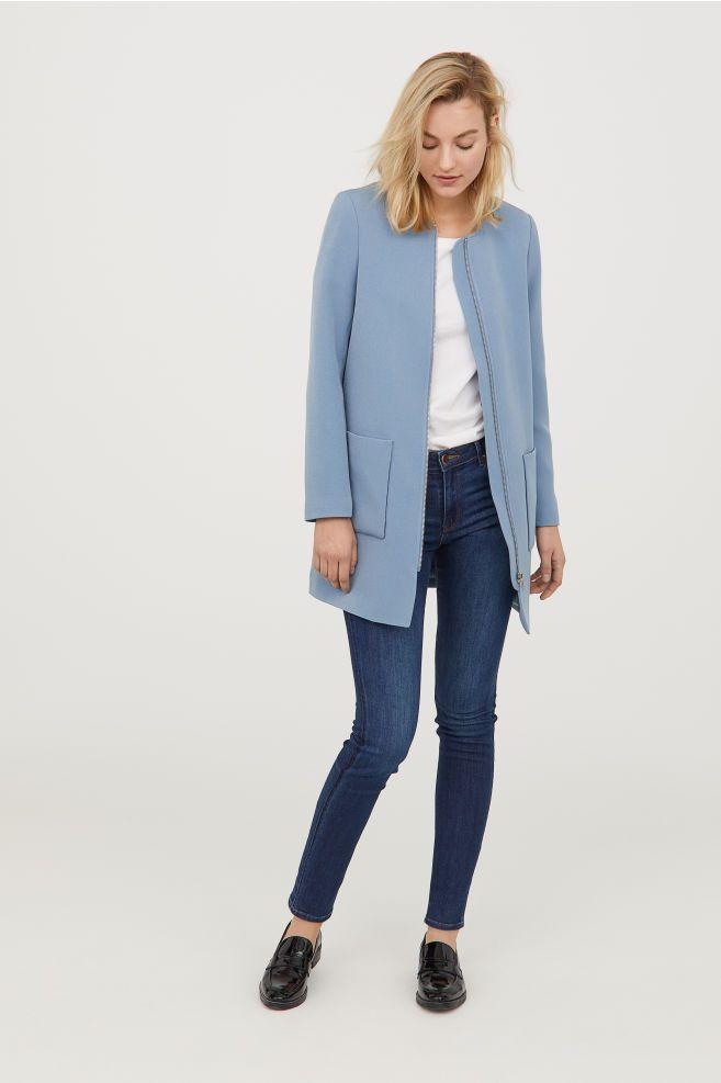 Manteau court bleu