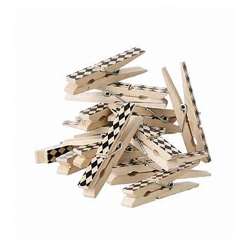 set of 20 graphic pegs in cloth bag by little baby company | notonthehighstreet.com