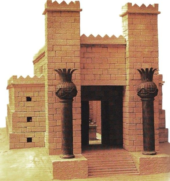 JERUSALEM:BIBLE ARCHITECTURE:model of Solomon's Temple