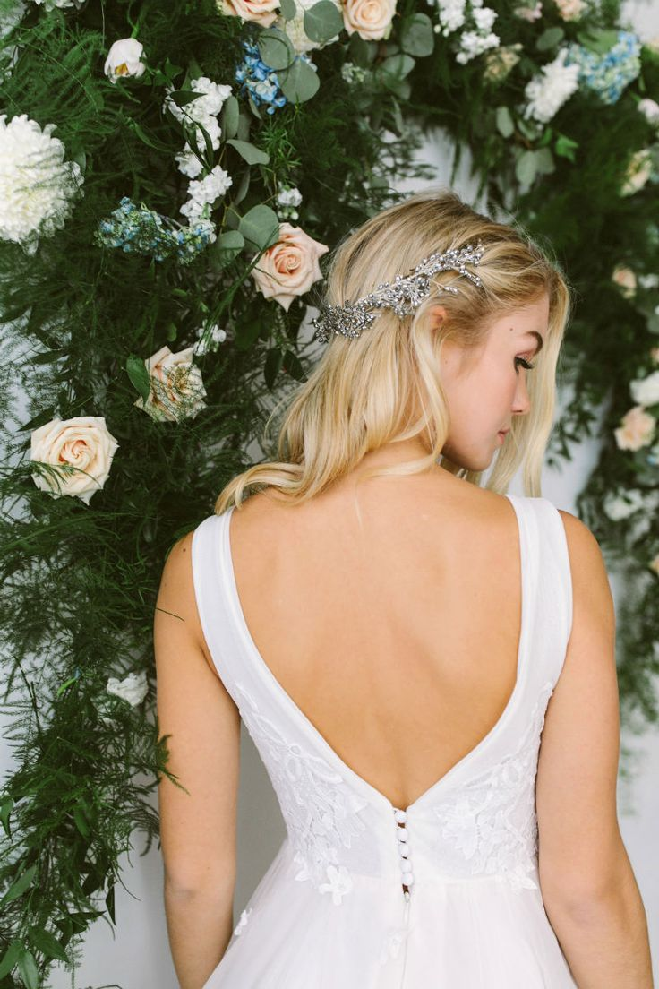 Low Back Wedding Dresses by Abigail of Gardenia www.elegantwedding.ca