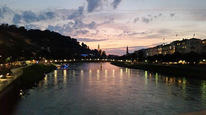 Salzburg Abenddämmerung