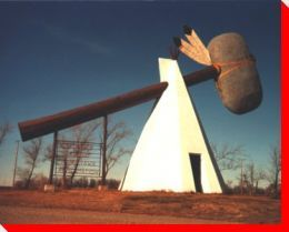 If you drive through Cut Knife, Saskatchewan, it's impossible to miss one of Canada's weirdest roadside attractions: the World's Largest Tomahawk.