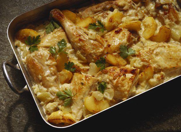 Cómo preparar un guiso de pollo con galletas Ritz como ingrediente