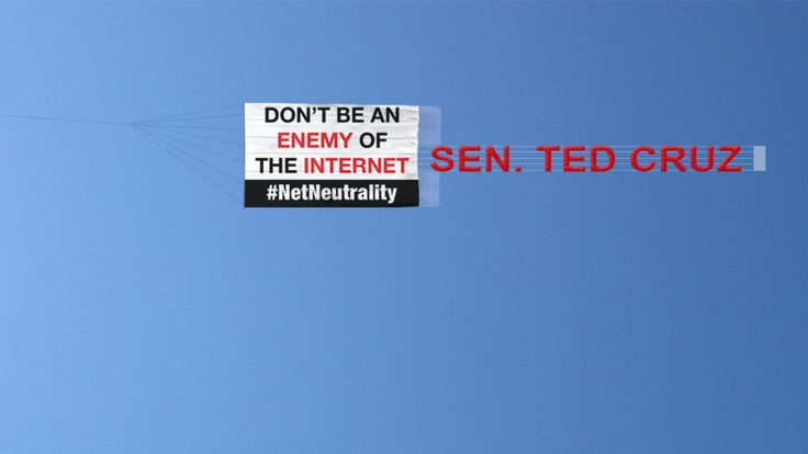 Banner flies over Austin calling out Ted Cruz for opposing net neutrality