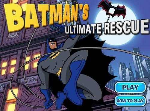 http://www.gamesinterest.com/online-games/Batman-Ultimate-Rescue Batman's super hero friends have been captured by villains! Now it is up to Batman to rescue them. The red icons in the screen tell you where his friends are. Be careful, though, the villain hit him hard and there are bombs tied to umbrellas that will cost his life. Before you know it, it is game over. Good luck!