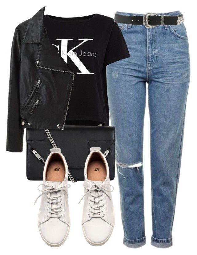 Untitled #5610 by laurenmboot on Polyvore featuring polyvore fashion style Calvin Klein Acne Studios H&M Yves Saint Laurent B-Low the Belt Topshop clo…