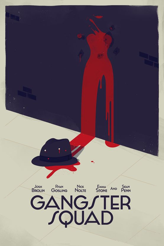 Gangster Squad Alternative Movie Poster  Today is the Release of the film 'Gangster Squad'. What better for today than to have a bunch of illustrators and designers create some alternative movie posters for the release.  Created forShortlist Magazine  Design byOliver Sin/Twitter