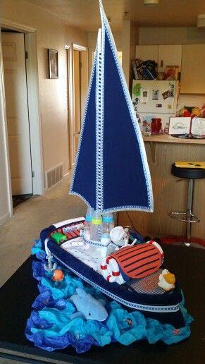 Diaper cake sailboat