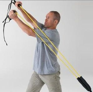 Enhance motor sequencing with this golf aid sports trainer 70 lbs resistance by Lifeline and train your upper body core for specific motion