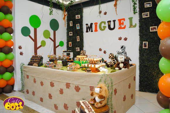 Decoração de festa infantil tema Safari