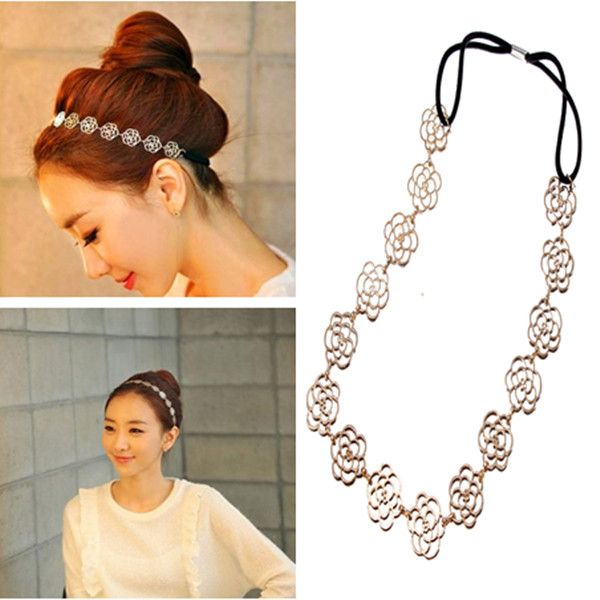 Wholesale Lovely Exquisite Hollow Out Rose Flower Hairband Headband Headhoop