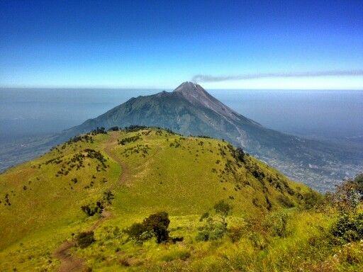Mt.Merapi taken from Mt.Merbabu