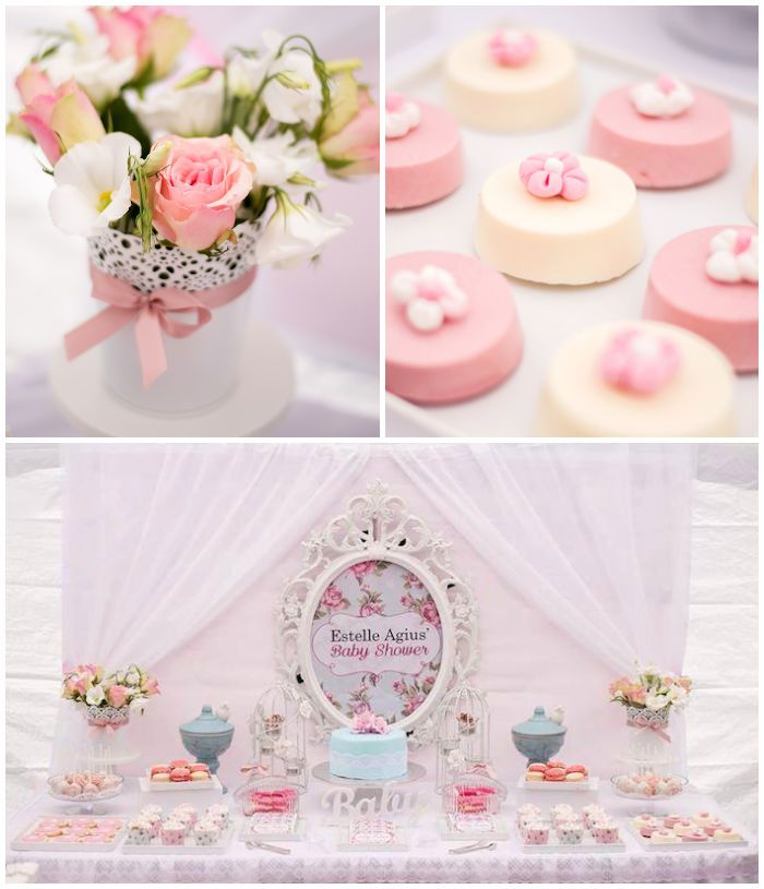 Shabby Chic Floral Baby Shower with So Many Precious Ideas via Kara's Party Ideas the place for everything party! Decor, Ideas, Games, Cupca...
