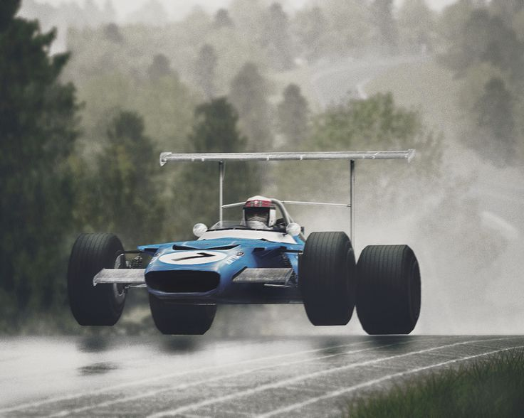 In 1969, Jackie Stewart won 6 races and became the World Champion driving Matra MS80 – Cosworth.
