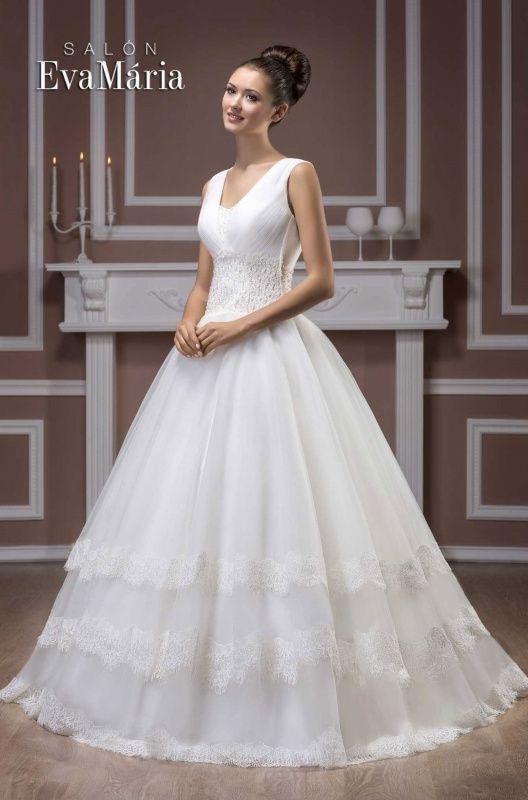 Svadobné šaty pre nevesty s veľkým poprsím - vsunutý živôtik