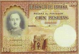 Billetes no emitidos Siglo XX Estado Español