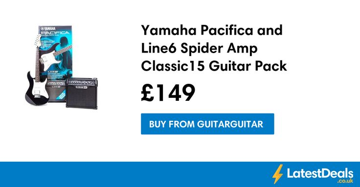 Yamaha Pacifica and Line6 Spider Amp Classic15 Guitar Pack Save £109, £149 at Guitarguitar