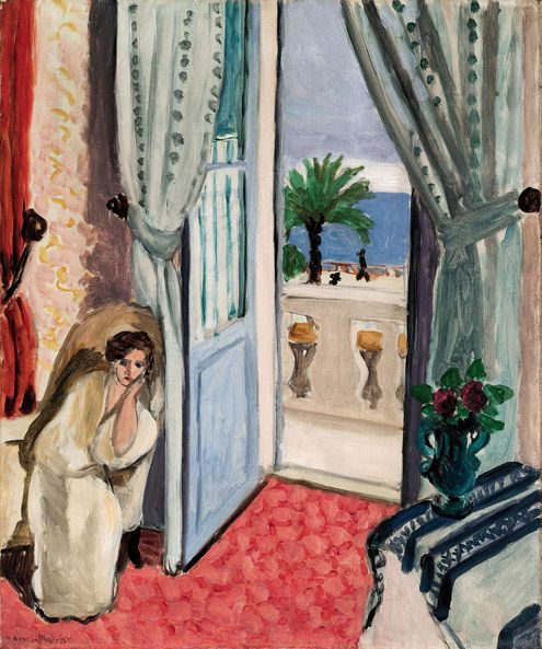 Henri Matisse (French, 1869–1954) Interior at Nice (Room at the Hôtel Méditerranée), ca. 1919 Oil on canvas; 26 1/4 x 21 5/8 in. (66.7 x 54.9 cm) Saint Louis Art Museum, Museum Purchase © 2012 Succession H. Matisse / Artists Rights Society (ARS), New York