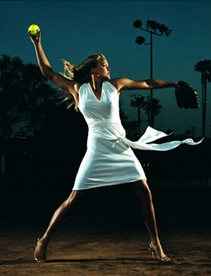 Jennie Finch: born to the world for the great game of softball.