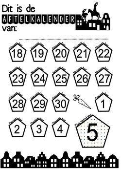 Aftelkalender met stickers! Free printable